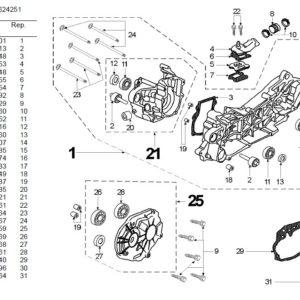 Schematy części z numerami katalogowymi